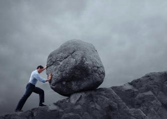 boulder up hill